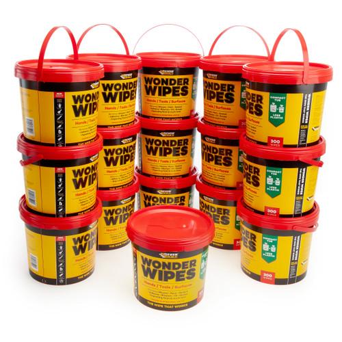 Everbuild GIANTWIPE-16 Wonder Wipes Giant Tub 300 Wipes (Box of 16 Tubs)