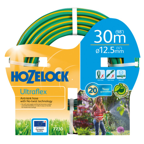 Hozelock 7730 Ultraflex Hose 12.5mm x 30 Metres