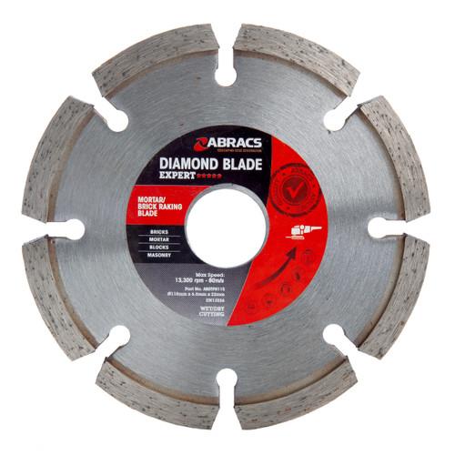 Abracs ABDBTPH115 Expert Mortar/Brick Raking Diamond Blade 115mm x 6.5mm x 22mm