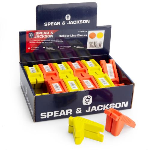 Spear & Jackson SJ-RLB-OY Tyzack Rubber Line Blocks (Box of 24)
