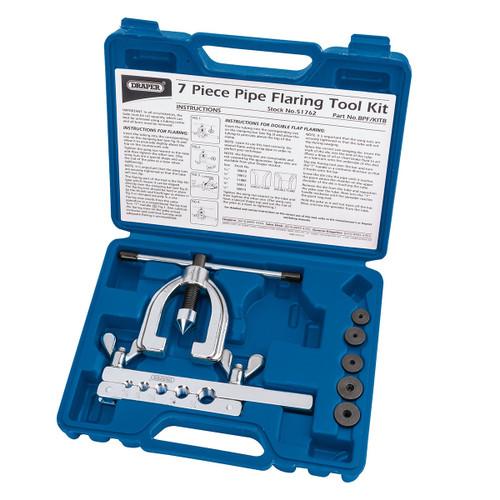 Draper 51762 Brake Pipe Flaring Kit (7 Piece)