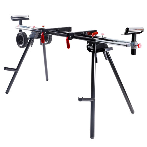 Excel 7475 Universal Mitre Saw Stand Folding & Adjustable Legs with Wheels