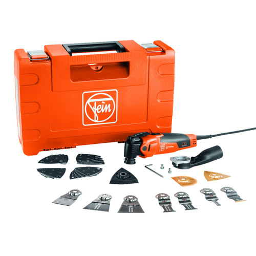 Fein 72296761241 Multimaster MM 500 Plus Top Oscillating Multi Tool with 30+ Accessories 110V 2