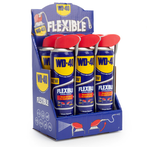 WD-40 Multi-Use Lubricant with Flexible Straw (44955) 400ml (Pack of 6)
