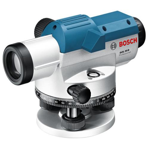 Bosch GOL 20 D Optical Level, BT 160 Tripod & GR 500 Levelling Rod Set
