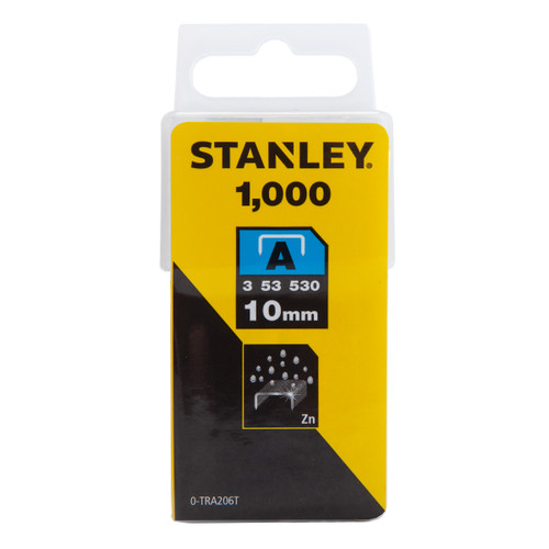 Stanley 0-TRA206T Light Duty Staples 10mm (Pack of 1000)