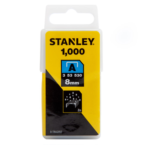 Stanley 0-TRA205T Light Duty Staples 8mm (Pack of 1000)
