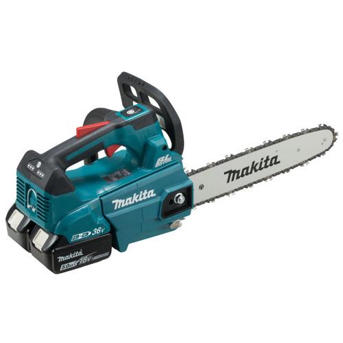 Makita DUC306PT2 36V LTX Chainsaw 300mm (2 x 5.0Ah Batteries) Accepts 2 x 18V Batteries