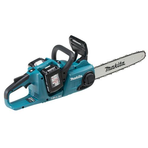 Makita DUC353PT2 36V LXT Cordless Chainsaw 35cm (2 x 5.0Ah Batteries) Accepts 2 x 18V Batteries