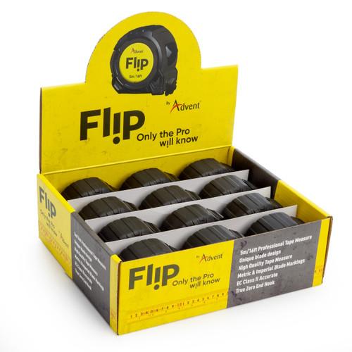 Advent Flip Professional Tape Measure Metric/Imperial 5m/16ft (Box of 12)