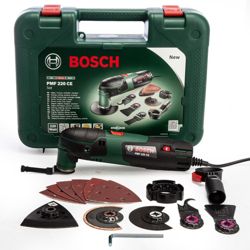 Bosch PMF 220 CE Starlock Multi Tool Set with Case