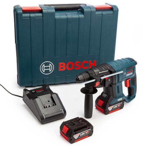 Bosch GBH 18V-21 18V SDS Plus Rotary Hammer Drill (2 x 4.0Ah Batteries) 2
