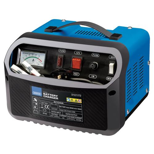 Draper 53000 12/24V 20-25A Battery Charger