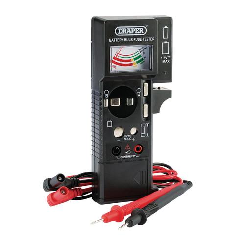 Draper 90478 Battery, Bulb, Fuse & Continuity Tester