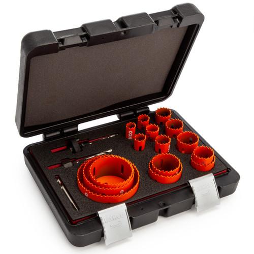 Bahco 3834-SET-153 Sandflex Bi-Metal Hole Saw Set for Metal & Wood 16mm-92mm (18 Piece)