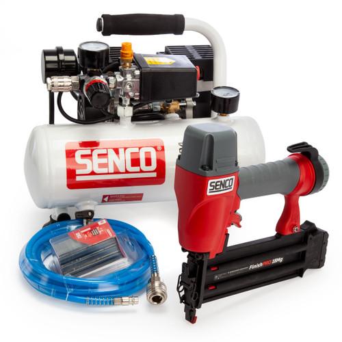 Senco AC4504 Compressor & FinishPro Pneumatic Nailer 18Mg Starter Kit 240V
