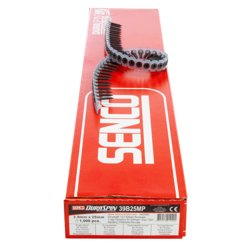 Senco 39B25MP Drywall to Light Steel Collated Screws 3.9mm x 25mm (1000 in Box)