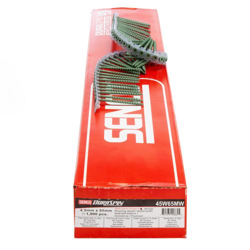 Senco 45W65MW DuraSpin Flooring / Decking Wood to Wood Screws 4.5mm x 65mm (1000 in Box)
