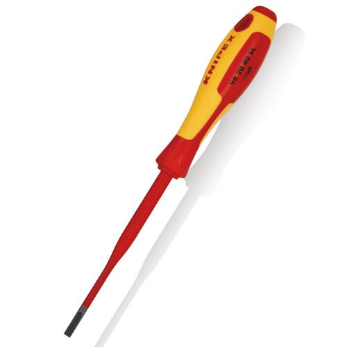 Knipex 982040SL VDE Slim Slotted Screwdriver 1000V 4.0mm x 202mm