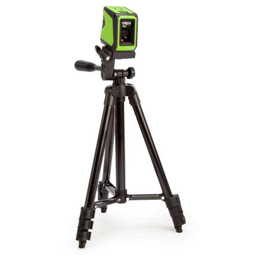 Imex L2GS Mini Cross Line Green Laser with Tripod