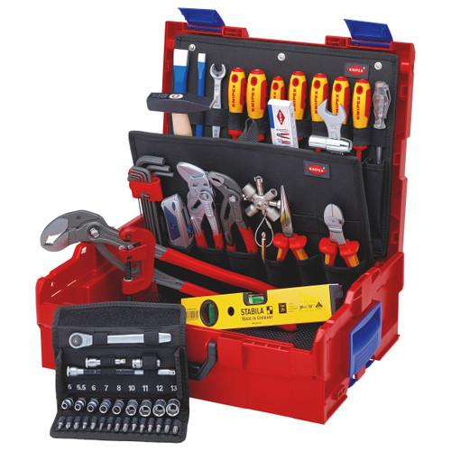 Knipex 002119LBS Plumbing Tools in L-Boxx (52 Piece)