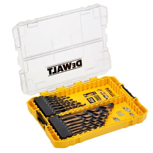 Dewalt DT70755 Black & Gold Metal Drilling Set in Connectable Case (21 Piece)