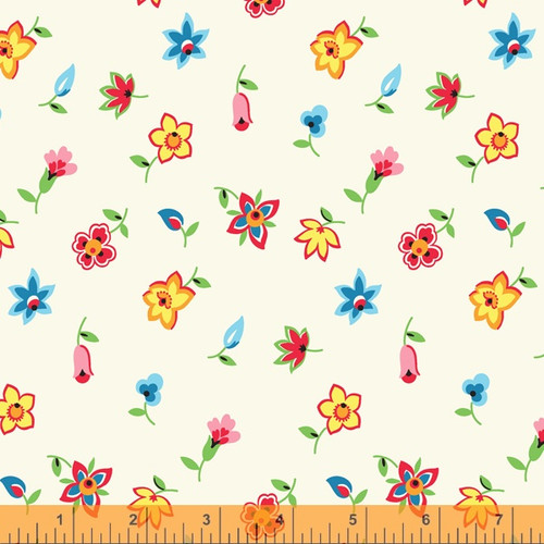 floral toss ivory