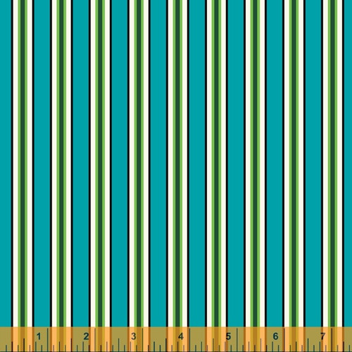 Candy Stripe Cyan