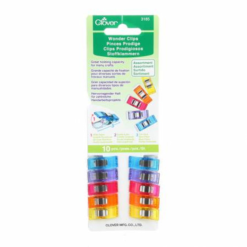 Wonder Clips Assorted Colours 10pc