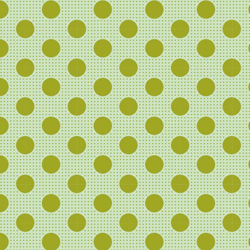 Tilda Classic Basic Green Dots available via Yardage 100% Premium Quilting Cotton