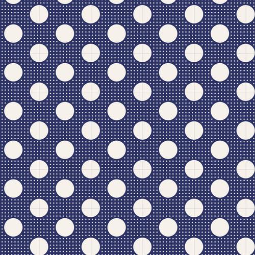 Tilda Classic Basic Night Blue Dots available via Yardage 100% Premium Quilting Cotton