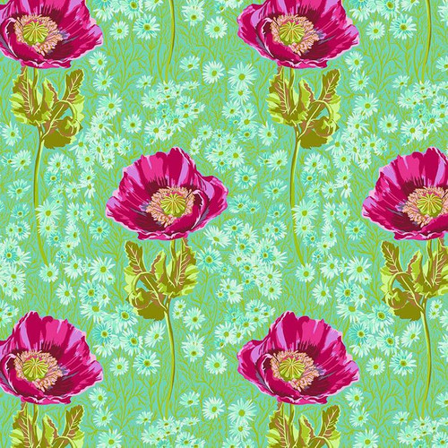 Bossy Print in Meadow from Bright Eyes Collection by Anna Marie Horner for Free Spirit Fabrics. 100% Premium Quilting Cotton.