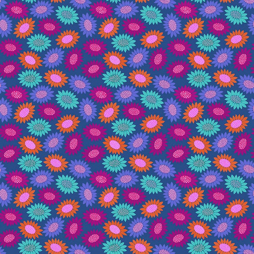 Picky in Blue from Bright Eyes Collection by Anna Marie Horner for Free Spirit Fabrics. 100% Premium Quilting Cotton.