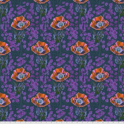 Bossy Mini in Evening from Bright Eyes Collection by Anna Marie Horner for Free Spirit Fabrics. 100% Premium Quilting Cotton.