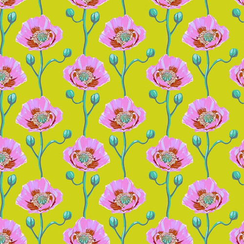 Cheering Section in Sunny from Bright Eyes Collection by Anna Marie Horner for Free Spirit Fabrics. 100% Premium Quilting Cotton.