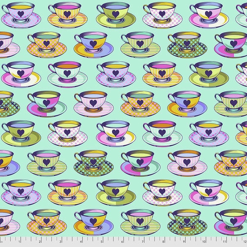 Tea Time in Daydream from Curiouser and Curiouser by Tula Pink for Free Spirit Fabrics. 100% Premium Quilting Cotton.