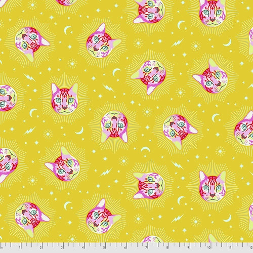 Cheshire in Wonder from Curiouser and Curiouser by Tula Pink for Free Spirit Fabrics. 100% Premium Quilting Cotton.