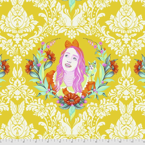 Alice in Sugar from Curiouser and Curiouser by Tula Pink for Free Spirit Fabrics. 100% Premium Quilting Cotton.