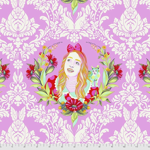 Alice in Wonder from Curiouser and Curiouser by Tula Pink for Free Spirit Fabrics. 100% Premium Quilting Cotton.