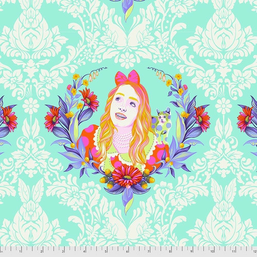 Alice in Daydream from Curiouser and Curiouser by Tula Pink for Free Spirit Fabrics. 100% Premium Quilting Cotton.
