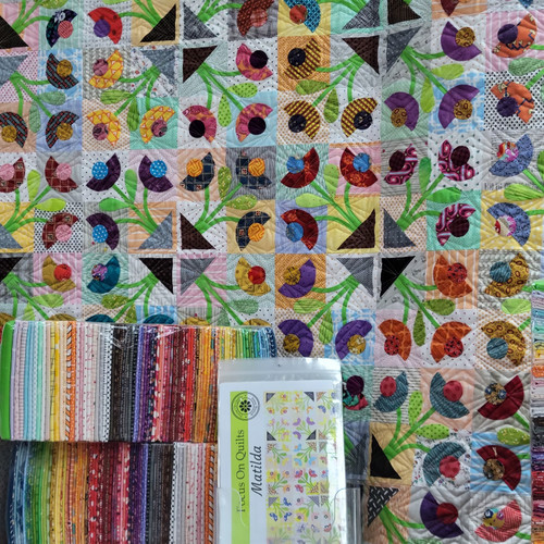 Matilda Quilt Kit Featuring a Shop Curated Selection of Quilting Cotton