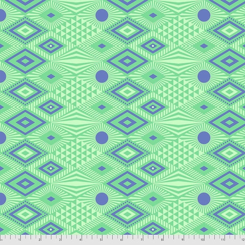 Lucy in Lagoon from Daydreamer by Tula Pink for Free Spirit Fabrics. 100% Premium Quilting Cotton.
