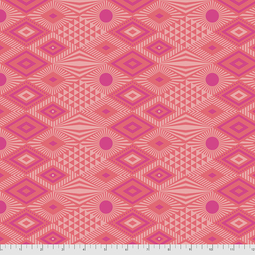 Lucy in Dragonfruit from Daydreamer by Tula Pink for Free Spirit Fabrics. 100% Premium Quilting Cotton.