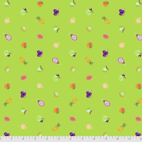 Forbidden Fruit Snacks Kiwi from Daydreamer by Tula Pink for Free Spirit Fabrics. 100% Premium Quilting Cotton.