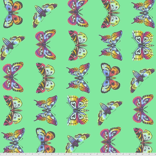Butterfly Hugs in Lagoon from Daydreamer by Tula Pink for Free Spirit Fabrics. 100% Premium Quilting Cotton.
