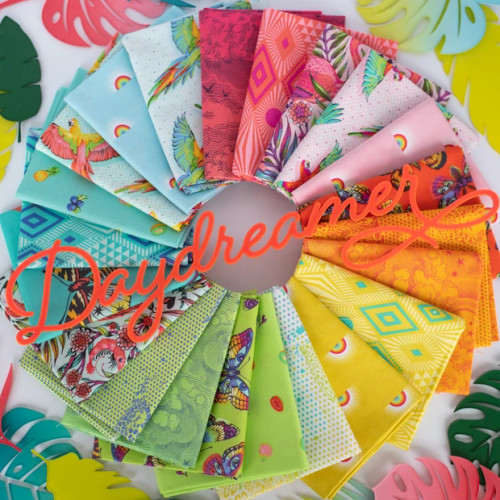 Fat Quarter Bundle from Daydreamer by Tula Pink for Free Spirit Fabrics. 100% Premium Quilting Cotton.