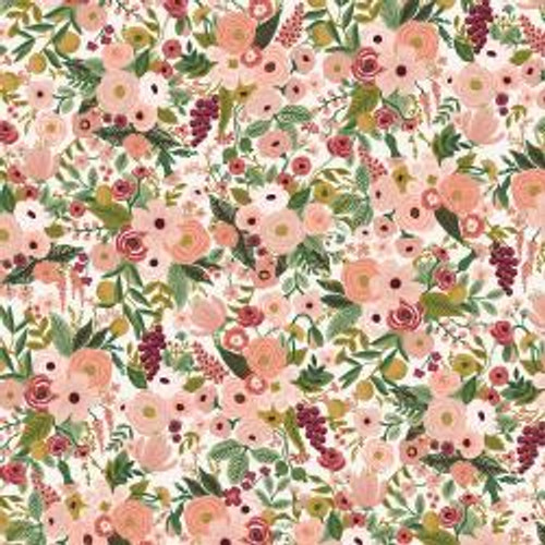 Petite Garden Party Rose from Rifle Paper Co. Garden Party Collection. 100% Premium Quilting Cotton.