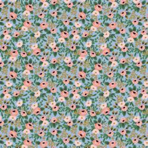 Metallic Chambray Rosa  from Rifle Paper Co. Garden Party Collection. 100% Premium Quilting Cotton.