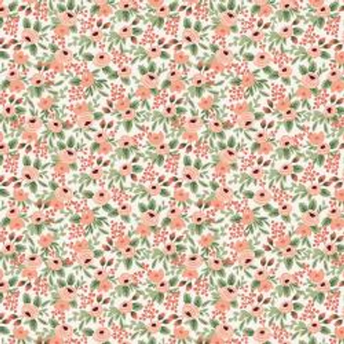 Rosa in Rose from Rifle Paper Co. Garden Party Collection. 100% Premium Quilting Cotton.
