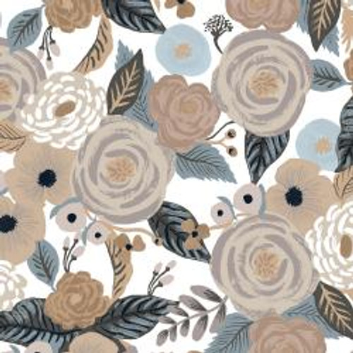 Canvas Juliet Rose Linen from Rifle Paper Co. Garden Party Collection. 100% Premium Quilting Cotton.